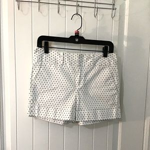 Club Monaco - Polka Dot Cuffed Shorts White/Navy
